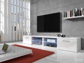 Meubella - TV-meubel Bash II LED - Wit - 240 cm