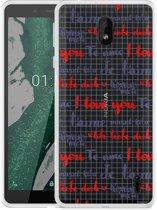 Nokia 1 Plus Hoesje I Love you