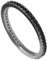Diamonfire - Zilveren ring met steen Maat 18.5 - Black-plated - Alliance - Zwart