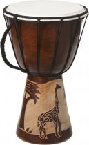 Handgemaakte drum Giraffe 30 cm