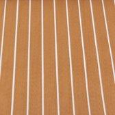 Bruin en Wit Gestreept EVA Imitatieschuim Teak Luxe voor Bouwdek Dakraam Kurk Kunststof Houten Vloeren met zelfklevende achterzijde