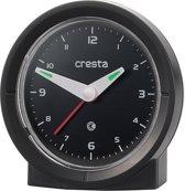 Cresta radio gestuurde wekker BAA330 zwart quartz analoog stil uurwerk