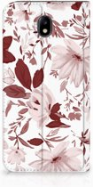Samsung Galaxy J7 2017 | J7 Pro Uniek Standcase Hoesje Watercolor Flowers