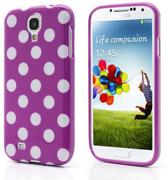 Dots silicone hoesje Samsung Galaxy S4 wit