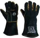 *** 1 PAAR LASHANDSCHOEN ***  - Houtkachel handschoen - Barbecues handschoen - BBQ handschoen maat 10,5 - hittebestendig - kleur zwart - Type