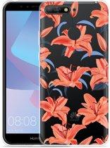 Huawei Y6 2018 Hoesje Flowers