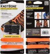 NITE IZE NITE IZE KnotBone Stretch LaceLock System - Bright Orange