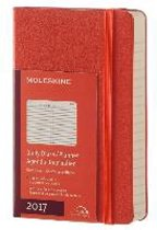 Moleskine Agenda 2017 12 Months Daily Pocket Coral Orange Hard Cover