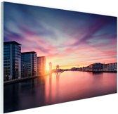 Berlijn bij een geweldige zonsondergang Glas 60x40 cm - Foto print op Glas (Plexiglas wanddecoratie)