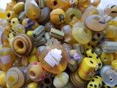 Glaskralen geel mix ca. 1000 gram
