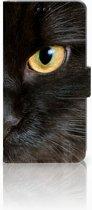 Samsung Galaxy S10 Uniek Bookcase Hoesje Zwarte Kat