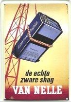 Van Nelle reclame Zware Shag reclamebord 10x15 cm