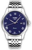 Stalen Heren Horloge – Polshorloge - Geschenkdoosje - Blue