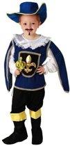 Blauw musketiers kostuum / verkleedkleding voor jongens 120-130 (7-9 jaar)