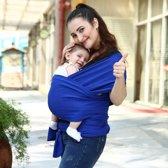 Baby Draagdoek Blauw - Wrap - Sling - comfortabel, ergonomisch en veilig - 95% katoen en 5% spandex natuurlijke verfstof