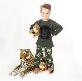 Frogs & Dogs - Premium - kinder pyjama - camouflage - Leeuw - maat 98