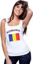 Witte dames tanktop Roemenie M