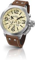 TW Steel Canteen Style  TW3R- Horloge  - 50 mm -  Bruin