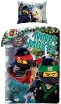 LEGO Ninjago Ninja Movies - Dekbedovertrek - Eenpersoons - 140 x 200 cm - Multi