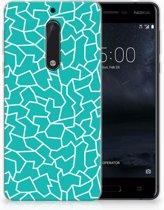 Nokia 5 TPU Hoesje Design Cracks Blue