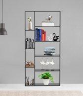 Vakkenkast roomdivider design DeLeuk open 9 verschillende vakken zwart