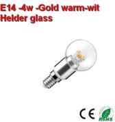 E14 Glas bol - 4w GOLD-Warmwit