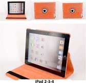 Book Case Tablet voor Apple iPad 2; Apple iPad 3; Apple iPad 4 - Oranje