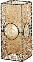 EGLO Nambia Tafellamp - 1 Lichts - Bruin - Beige, Champagne