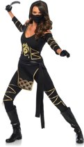 Goudkleurig draken ninjakostuum voor vrouwen - Verkleedkleding