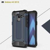 Samsung Galaxy A8 (2018) Armor Hybrid Case - Blauw