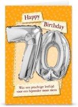 Miko - Kaart - Leeftijdballon - 70 Jaar