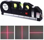 Waterpas Multitool | Ingebouwde Laser | Liniaal & Rolmaat | Zwart | Batterij | 5 Meter