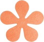 Papillon Glasonderzetters Bloem - Set van 6 Stuks - Oranje