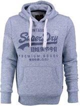 Superdry lichtblauwe sweater hoodie Maat - L