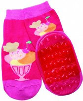 anti-slip sokken Stoppi fuchsia ijsje Maat: 27-28