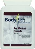 BodyStart Pre Workout Formule   500 mg   Krachtige dosering   Exclusieve complete pre-workout   Voor maximale prestatie   60 Capsules