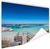 Strand Australie Poster 90x60 cm - Foto print op Poster (wanddecoratie woonkamer / slaapkamer)