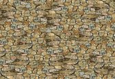 Fotobehang Stone Wall | XL - 208cm x 146cm | 130g/m2 Vlies