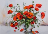 3D Embroidery Living Picture JK-2074 Study of Poppies