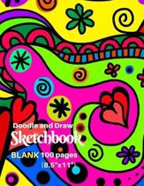 Doodle and Draw Sketchbook, Blank 100 Pages (8.5x 11)