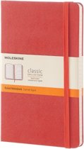 Moleskine Classic Notebook - Large - Ruled - Hard Cover - Coral Orange