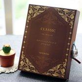 Vintage Dagboek Met Cijferslot - Notebook Met Geheime Code Slot - Bruin