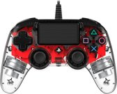 Nacon Playstation 4 Official Licensed Wired Compact LED Controller - PS4 - Rood