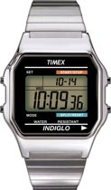 Timex Men Digital Zilverkleurig - Polshorloge - Digitale Tijdsaanduiding