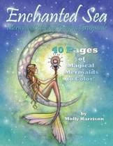 Enchanted Sea - Mermaid Coloring Book in Grayscale - Coloring Book for Grownups