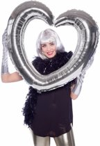 Folie  foto frame hart zilver 80  x 70 cm