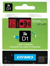 Dymo 45017 Tape Type D1 - 12mm X 7m / Zwart / Rood