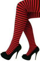 Panty - Gestreept - Rood Zwart