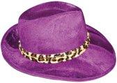 Paarse gangster hoed volwassenen