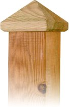 Paalornament pyramide hout, 81mm